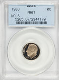 Proof Roosevelt Dimes: , 1983 10C No S PR67 PCGS. PCGS Population (2/16). NGC Census: (0/1).Mintage: 3,065,110. (#5265)...