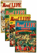 Golden Age (1938-1955):Non-Fiction, Real Life Comics Group (Nedor Publications, 1945-46).... (Total: 4Comic Books)