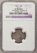 Bust Dimes, 1827 10C --Improperly Cleaned--NGC Details. XF. JR-13. NGC Census:(7/222). PCGS Population (19/212). Mintage: 1,300,000. Nu...