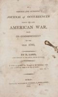 Books:Non-fiction, R. Lamb. An Original and Authentic Journal of Occurrences During the Late American War, from Its Commencement to the Yea...