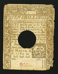 Colonial Notes:Connecticut, Connecticut March 1, 1780 10s Very Fine.. ...