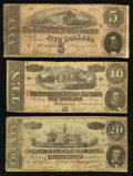 Confederate Notes:Group Lots, Confederate Group Lot T67, T68, & T69 1864.. ...