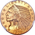 Indian Half Eagles, 1908-S $5 MS67 NGC....