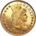 Early Half Eagles, 1795 $5 Small Eagle MS65 Prooflike NGC. Breen-6414, BD-6, R.5....