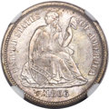 Seated Dimes, 1866-S 10C MS66 NGC....