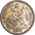 Seated Dimes, 1872-S 10C MS65 PCGS Secure. CAC....