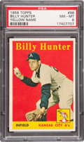 Baseball Cards:Singles (1950-1959), 1958 Topps Billy Hunter-Yellow Letters #98 PSA NM-MT 8....