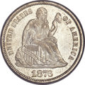 Seated Dimes, 1876 10C MS66+ PCGS Secure. CAC....
