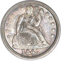 Seated Dimes, 1845 10C MS66 PCGS Secure. CAC....