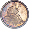 1837 10C No Stars, Large Date MS65 PCGS Secure. CAC....(PCGS# 4561)