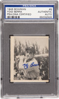 "Baseball Cards:Singles (1940-1949), 1948 Bowman Yogi Berra #6 Signed Rookie Card, PSA/DNA""Authentic""...."