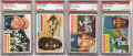 Baseball Cards:Lots, 1956 Topps Hall of Fame PSA Graded Cards Lot of 4....