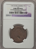 Large Cents, 1793 Chain 1C Periods--Environmental Damage--NGC Details. Fair.S-4, High R.3....