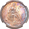 Seated Dimes, 1861 10C MS66 NGC....