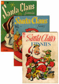 Golden Age (1938-1955):Miscellaneous, Santa Claus-Related Comics Group (Dell, 1948-63) Condition: Average GD/VG.... (Total: 8 Comic Books)