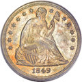 Seated Dollars, 1849 $1 MS62 PCGS....