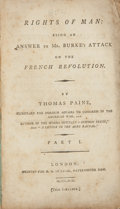 Books:Non-fiction, Thomas Paine. Rights of Man: Being an Answer to Mr. Burke'sAttack on the French Revolution. Part I. London: Sym...