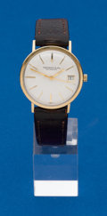 Timepieces:Wristwatch, Tiffany, 14k Gold, Gents Automatic. ...