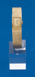 Timepieces:Wristwatch, Omega, Ladies 14k Gold Bracelet Wristwatch. ...