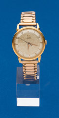 Timepieces:Wristwatch, Omega, 18k Gold, Gents Bumper Automatic Wristwatch. ...