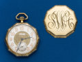 Timepieces:Pocket (post 1900), Waltham, 14k Gold, 10 Sided, 12 Size. ...