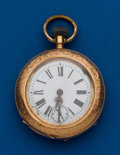 Timepieces:Pocket (post 1900), Swiss, Unmarked Gold, 47 mm, Pocket Watch. ...