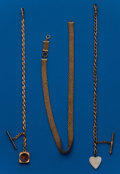 Timepieces:Watch Chains & Fobs, Three - Antique Gold Filled Watch Chains. ... (Total: 3 Items)