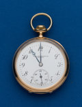 Timepieces:Pocket (post 1900), Illinois, 17 Jewel, 14k Gold, Private Label, 12 Size. ...