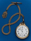 Timepieces:Pocket (post 1900), Hamilton, 21 Jewel 992B With Chain. ...