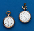 Timepieces:Pocket (post 1900), Two Lady's Pendant Watches. ... (Total: 2 Items)