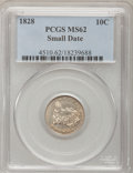 Bust Dimes, 1828 10C Small Date MS62 PCGS. JR-1, R.2....
