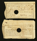 Colonial Notes:Connecticut, Connecticut Fiscal Paper. Two Examples.. ... (Total: 2 notes)