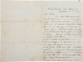 "Autographs:Military Figures, Dakota War of 1862: Civil War Soldier's Letter from Camp Lincoln, Minnesota. Three pages, 5.25"" x 8"", ""Camp Lincoln, near ..."