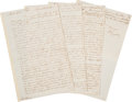 """Autographs:Statesmen, Benjamin Franklin Autograph Letter Signed. Six and one-quarterpages, 8"""" x 12.5"""", London, February 25, 1767, to """"My de..."""