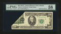 Error Notes:Foldovers, Fr. 2074-F $20 1981A Federal Reserve Note. PMG Choice About Unc58.. ...