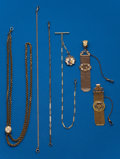 Timepieces:Watch Chains & Fobs, Six - Antique Watch Chains and Fobs. ... (Total: 6 Items)