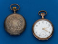 Timepieces:Pocket (post 1900), Two - Swiss, Silver Pocket Watches. ... (Total: 2 Items)
