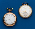 Timepieces:Pocket (post 1900), Two - 12 Size Pocket Watches. ... (Total: 2 Items)