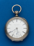 Timepieces:Pocket (pre 1900) , Elgin, H.L. Culver, 15 Jewel, Key Wind, #172710. ...
