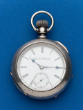 Timepieces:Pocket (post 1900), Elgin 21 Jewel, 18 Size Grade 349, Coin Silver Case. ...