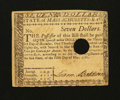 Colonial Notes:Massachusetts, Massachusetts May 5, 1780 $7 Extremely Fine.. ...