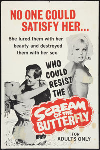 "Scream of the Butterfly Lot (Emerson Film Enterprises, 1965). One Sheets (2) (27"" X 41""). Sexploitation. ... (..."