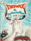 Books:First Editions, Dr. Seuss. Thidwick the Big-Hearted Moose. New York: RandomHouse, [1948].. First edition, first printing, with ei...