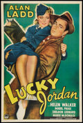 "Movie Posters:Crime, Lucky Jordan (Paramount, 1942). One Sheet (27"" X 41""). Crime.. ..."