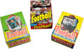 Football Cards:Boxes & Cases, 1983, 1985 and 1987 Topps Football Display Box Trio (3). ...