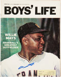 """Baseball Collectibles:Publications, Willie Mays Signed """"Boys' Life"""" Magazine...."""