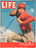 """Football Collectibles:Publications, Doak Walker Signed """"Life"""" Magazine...."""