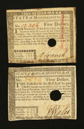Colonial Notes:Massachusetts, Two Massachusetts May 5, 1780 Notes.. ... (Total: 2 notes)