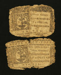 Colonial Notes:New York, Two New York Colonials Poor.. ... (Total: 2 notes)
