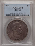Coins of Hawaii: , 1883 $1 Hawaii Dollar XF45 PCGS. PCGS Population (129/240). NGC Census: (41/169). Mintage: 500,000. (#10995)...